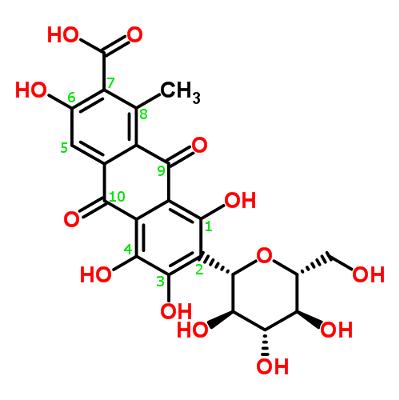 organic chemistry iupac systematic name of carminic acid