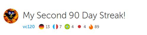 89 days duolingo