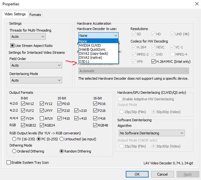 New HW Decoder option